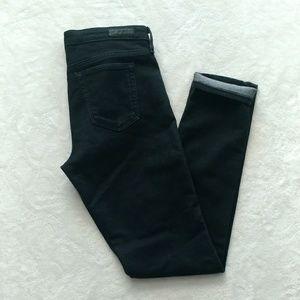 AG the Stilt Cigarette jeans in black